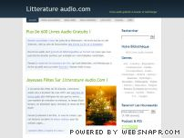 Audio French literature